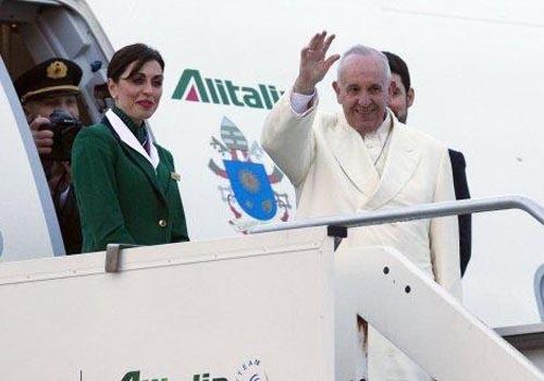 El papa Francisco inició su viaje apostólico a México
