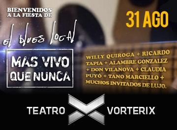 El Blues Local llega al Teatro Vorterix ayudando a Don Orione