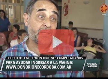 Canal 12 visitó el Cottolengo de Córdoba