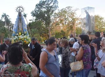 Llegó la Imagen Peregrina de la Virgen de Fátima a Itatí