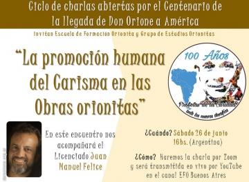 """""""La promoción humana del Carisma en las Obras orionitas"""""""